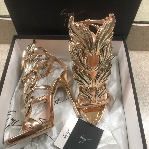 top brands uk store new arrivals Giuseppe Zanotti Shoes | Auth Rose Gold Cruel Wings Heels | Poshmark